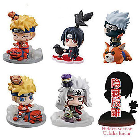 Fresh Deals Baby & Toddler 6 Pcs Naruto Cute Version Action Japanese Anime Toys For Kid's