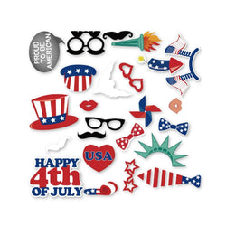 Fresh Deals Baby & Toddler American Independence Day Happy 4th of July Photo Booth Props Kit