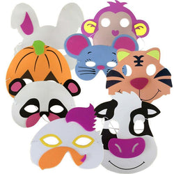 Fresh Deals Baby & Toddler Assorted  Favors Dress-Up Foam Animal Masks for Birthday Party