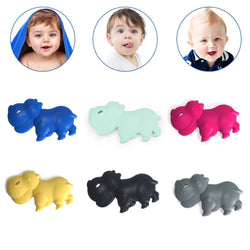 Fresh Deals Baby & Toddler Baby Cartoon Hippo Silicone Teether Chew Toy