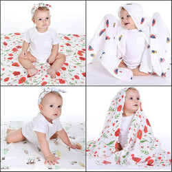 Fresh Deals Baby & Toddler Baby Crawling Printing With Rabbit Ears Parcel Blanket