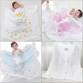 Fresh Deals Baby & Toddler Baby Dual-layer Muslin Cotton Breathable Towel