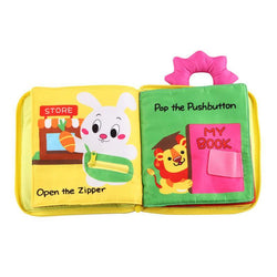 Fresh Deals Baby & Toddler Baby Educational Three-Dimensional Cloth Book Toy