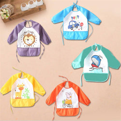 Fresh Deals Baby & Toddler Baby Feeding Waterproof Over Clothes Sleeved Bibs
