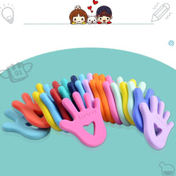 Fresh Deals Baby & Toddler Baby Finger Pattern Molar Teether Toy
