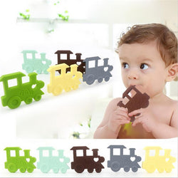 Fresh Deals Baby & Toddler Baby Locomotive Shape Toothbrush Teether Toy