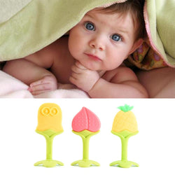 Fresh Deals Baby & Toddler Baby Safe Silicone Fruit Shape Toys Teether