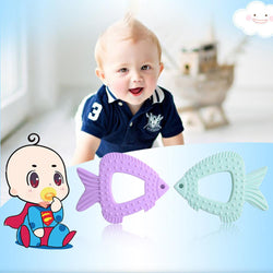 Fresh Deals Baby & Toddler Baby Silicone Fish Shaped Molars Toys Teether