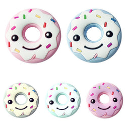 Fresh Deals Baby & Toddler Baby Smiling Face Donut-shaped Cartoon Teether Toy