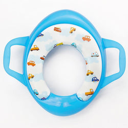 Fresh Deals Baby & Toddler blue Baby Potty Training Handles Cushion Padded Safety Seat
