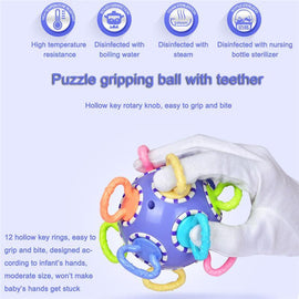 Fresh Deals Baby & Toddler Children Gripping Rattles Molar Ball Gum Teether