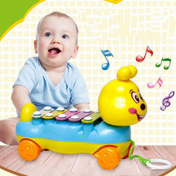 Fresh Deals Baby & Toddler Colorful Caterpillar 5-Note Xylophone Feeding-bottle