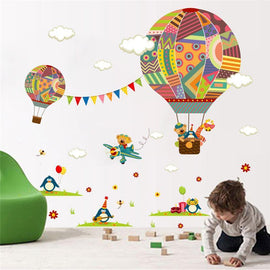Fresh Deals Baby & Toddler Colorful Hot Air Balloon Bear Nursery Room Wall sticker