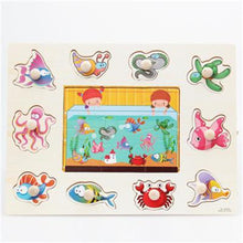 Fresh Deals Baby & Toddler CYX0915 Animal Fruit Jigsaw Board Practical Wooden Puzzle Educational Toys