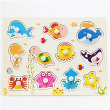 Fresh Deals Baby & Toddler CYX0917 Animal Fruit Jigsaw Board Practical Wooden Puzzle Educational Toys