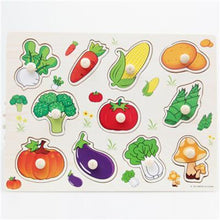 Fresh Deals Baby & Toddler CYX0923 Animal Fruit Jigsaw Board Practical Wooden Puzzle Educational Toys