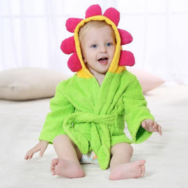 Fresh Deals Baby & Toddler F Baby Bathrobe Cartoon Character Bathing Towel
