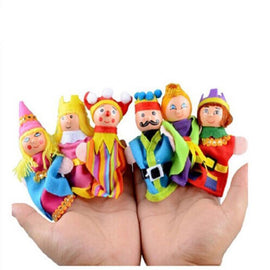 Fresh Deals Baby & Toddler Family Finger Puppets Cloth Hand Cartoon Doll