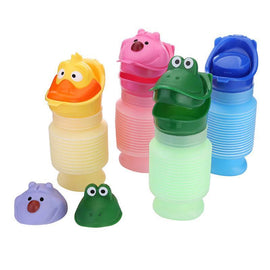 Fresh Deals Baby & Toddler Green Portable Travel Urinal Cartoon Baby Pot Toilet
