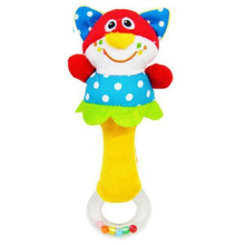 Fresh Deals Baby & Toddler Kids Cat  Animal Cartoon Rattle Plush Hand Bell Toy
