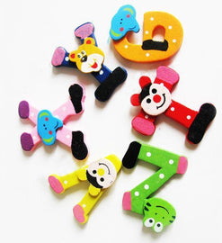 Fresh Deals Baby & Toddler Kids Wooden Alphabet Fridge Magnet Educational Study Toys