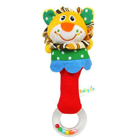 Fresh Deals Baby & Toddler Lovely Lion Plush Animal Cartoon Hand bell Rattle Toy