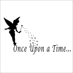 Fresh Deals Baby & Toddler ''Once upon a time'' Angel Art Wall Stickers