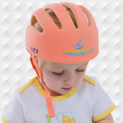 Fresh Deals Baby & Toddler Orange Baby Learn Walk Anti Collision Safety Helmet Drop Cap