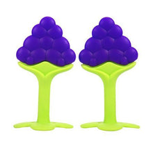 Fresh Deals Baby & Toddler Purple 3 Style Baby Teether Fruit Shape Baby Toys