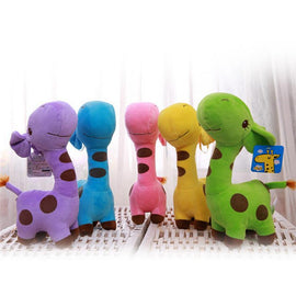 Fresh Deals Baby & Toddler purple Kids Plush Colorful Dotted Soft Animal Doll Toys