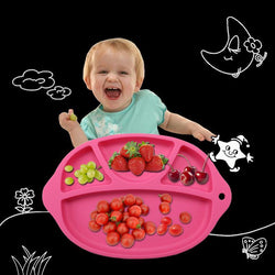 Fresh Deals Baby & Toddler rosy Baby Dinner Slip-resistant Feeding Food Dishes Tableware