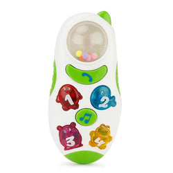 Fresh Deals Baby & Toddler White Child Stop Crying Touch Screen Phone with Music