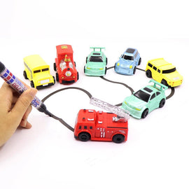 Fresh Deals Baby & Toddler with box 2 Magic Pen Inductive Children's Truck Tank Car Toy