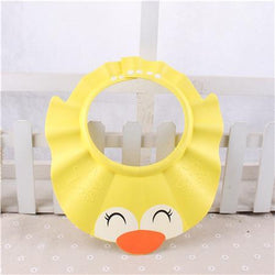 Fresh Deals Baby & Toddler yellow Adjustable Shampoo Bathing Cartoon Shower Hat