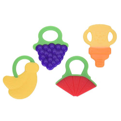 Fresh Deals Baby & Toddler Yellow Baby Glister Teether Silicone Training Biter Toy