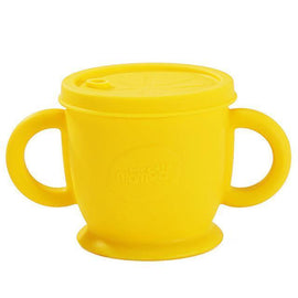 Fresh Deals Baby & Toddler Yellow Baby Straw Two Hand Food Milk Water Cup