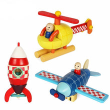 Fresh Deals Baby Wooden Helicopter Puzzle Block Kit