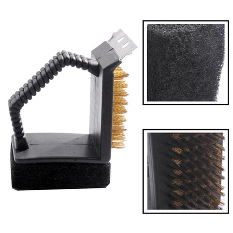 Fresh Deals BBQ 3-in-1 BBQ Grill Cleaning Brush