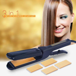 Fresh Deals Beauty & Health Default Title Electric Straightener Crimper Corrugated Curl Hair Tool