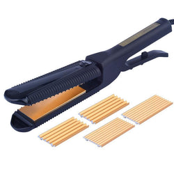 Fresh Deals Beauty & Health Electric Straightener Crimper Corrugated Curl Hair Tool