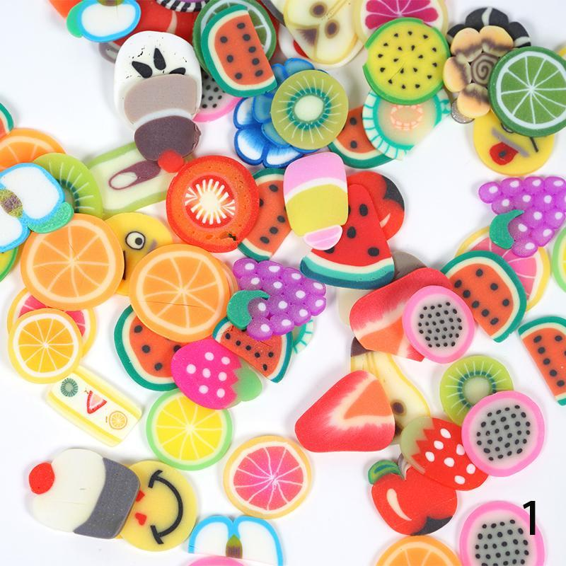 Fruit Shape Fimo Slices Polymer Clay Nail Art Stickers – Fresh Deals