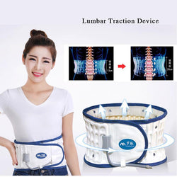 Fresh Deals Beauty & Health Waist Collar Pain Relief Traction Belt Spinal Back Massager