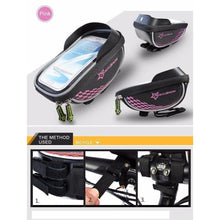 Fresh Deals Bike Accessory Pink ROCKBROS Road Cycling Front Top Saddle Bag