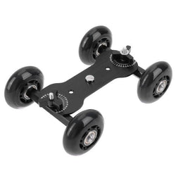 Fresh Deals Consumer Electronics Black 4 Wheels Video Camera Track Car Stabilizer