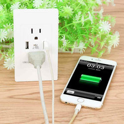 Fresh Deals Consumer Electronics Dual USB Wall Socket Panel Resistant Plate Charger Plug Port
