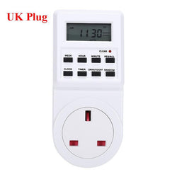 Fresh Deals Consumer Electronics UK Plug Programmable Switch Socket Plug-in Timer Clock
