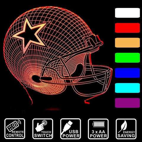 Fresh Deals Garden & Outdoor 3D LED Remote Control  Baseball Cap Desk Night Light Lamp