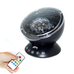 Fresh Deals Garden & Outdoor Blue LED Night Remote Control Ocean Wave Music Light