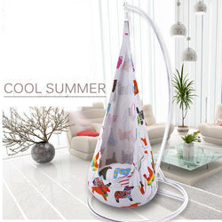 Fresh Deals Garden & Outdoor Colorful Printed Cartoon Children Hanging Swing Chair