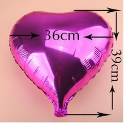 Fresh Deals Garden & Outdoor Heart Shape Globs Metallic Inflatable Foil Balloons